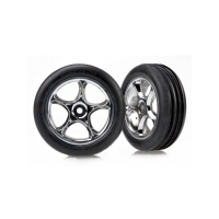 TRAXXAS TYRES AND WHEELS ASSEMBLED FRONT