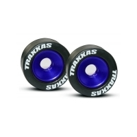 TRAXXAS Rubber Tyres Blue Anodized