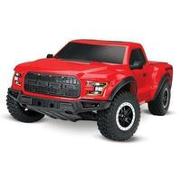 TRAXXAS FORD F-150 RAPTOR BRUSHED READY TO RUN TRUCK - RED BODY