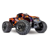 TRAXXAS HOSS 1-10th 4WD Brushless Ready to Run Monster Truck - Orange Body - 39-90076-4ORNG