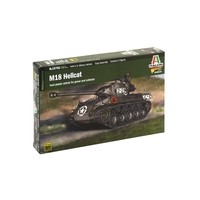 Italeri Plastic Model Kit M18 Hellcat (Glue, Paints And Brush Not Included) 1:56 - 51-15762