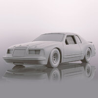 SCALEXTRICTRIC Ford Thunderbird - White - New Tooling 2019 - 57-C4077