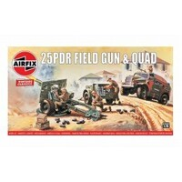 Airfix Plastic Model Kit 25DPR FIELD GUN 1:76 SCALE