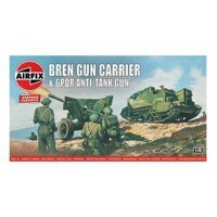 Airfix Plastic Model Kit BREN GUN CARRIER & 6PDR AT GUN 1:76 SCALE