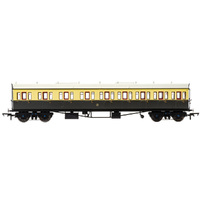 Hornby Gwr, Collett 57' Bow Ended E131 Nine Compartment Composite (Left Hand), 6360 - Era 3 - 69-R4874