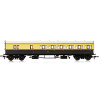 Hornby Gwr, Collett 57' Bow Ended D98 Six Compartment Brake Third (Right Hand), 4972 - Era 3 - 69-R4877