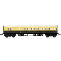 Hornby Gwr, Collett 57' Bow Ended D98 Six Compartment Brake Third (Right Hand), 5504 - Era 3 - 69-R4877A