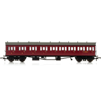 Hornby Br, Collett 57' Bow Ended E131 Nine Compartment Composite (Left Hand), W6630W - Era 4 - 69-R4878