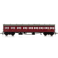 Hornby Br, Collett 57' Bow Ended E131 Nine Compartment Composite (Left Hand), W6237W - Era 4 - 69-R4878A