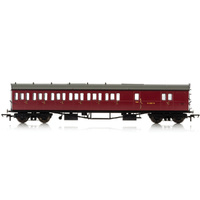 Hornby Br, Collett 57' Bow Ended D98 Six Compartment Brake Third (Left Hand), W4949W - Era 4 - 69-R4880A