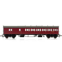 Hornby Br, Collett 57' Bow Ended D98 Six Compartment Brake Third (Right Hand), W4951W - Era 4 - 69-R4881A