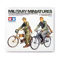 TAMIYA Plastic Model Kit German Soldiers With Bicycles - 74-T35240