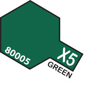 TAMIYA X-5 Green Enamel Paint Gloss 10ml - 75-T80005
