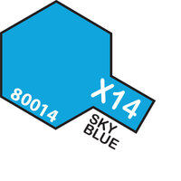 TAMIYA X-14 Sky Blue Enamel Paint Gloss 10ml - 75-T80014
