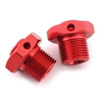 Arrma Aluminum Wheel Hex, 17mm Red 2pcs, AR310904 - ARA310904