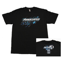 Team Associated Ae 2017 Worlds Tee, Black, Medium - Asssp124M