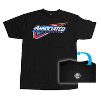 Team Associated Associated Tri T-Shirt, Black, Medium - Asssp126M