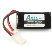 Firelands Ares Azsb10002S20T 1000Mah 2-Cell/2S 7.4V 20C Lipo Battery. Tamiya Connecto - Azsb10002S20T