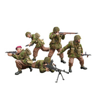Bronco CB35130 1/35 WWII British Paratroops In Combat Set A Plastic Model Kit - BRO-CB35130