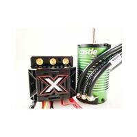 Castle Creations Monster X Brushless ESC, 2200KV Sensored Motor Combo, CC-MONSTERX-2200 - CSE010014503