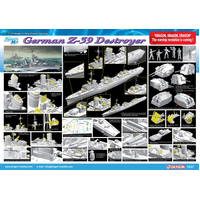 Dragon 1037 1/350 GERMAN Z-39 DESTROYER (SMART KIT) - DR 1037