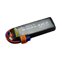 Dualsky 1250mah 2S HED LiPo Battery, 50C - DSB31800