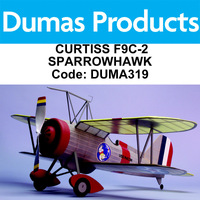 Dumas 319 Curtiss F9C-2 Sparrowhawk 30 Inch Wingspan Rubber Powered - Duma319