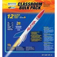Estes 1756 Bulk Alpha (12 pk) Rockets Skill Level 1 - EST-1756
