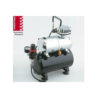SILENT MINI AIR COMPRESSOR 1/5HP WITH HOLDING TANK, REGULATOR AND WATER TRAP - NHDU-136