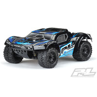 "PROLINE PRE-PAINTED / PRE-CUT MONSTER FUSION (Black) BODY FOR PRO-FUSION SC 4x4, SLASH 2wd & 4x4 WITH 2.8"" MT Tires"