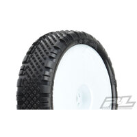 "PROLINE PRISM 2.2"" 2WD Z3 (MEDIUM) OFF-ROAD CARPET BUGGY TIRES MOUNTED ON VELOCITY FRONT WHITE WHEELS (2) - PR8278-13"