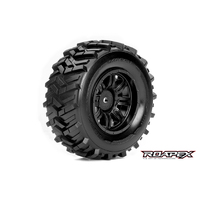 Roapex Morph 1/10 Sc Tire Black Wheel With 12Mm Hex Mounted - R1004-B