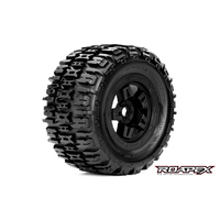 Roapex Renegade 1/8 Monster Truck Tire Black Wheel With 17Mm Hex Mounted - R4001-B