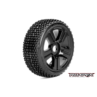 Roapex Roller 1/8 Buggy Tire Black Wheel With 17Mm Hex Mounted - R5003-B