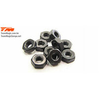 Team Magic 3Mm Flat Locknut (10) - Tm111007F