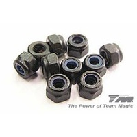 Team Magic 3Mm Steel Locknut (10) - Tm111007St