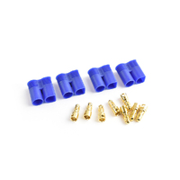 Tornado Rc Ec3 Plug Male(Male Bullet With Female Housing) 4Pcs/Bag - Trc-0118M