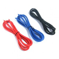 Yeah Racing 12AWG Silver Silicone Wire Set (BK/BU/RD) - WPT-0030