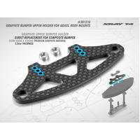 XRAY T4 GRAPHITE BUMPER UPPER HOLDER FOR ADJUSTABLE BODY MOUNTS 2.5MM - XY301210